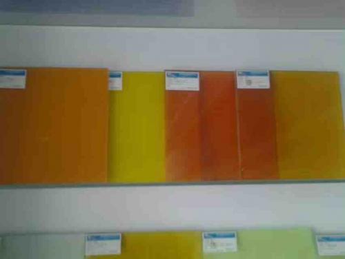 彩色夹层玻璃
